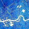 Rotterdam | Stadskaart Blauw | Vierkant van - Wereldkaarten.Shop - thumbnail