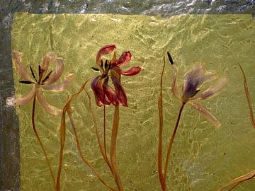 Gießharz Tulpen Kunstwerk von Susan Hol