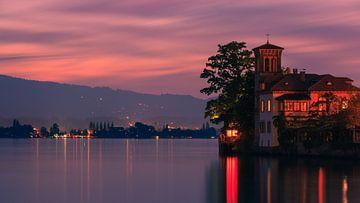 Zonsondergang Oberhofen, Zwitserland van Henk Meijer Photography