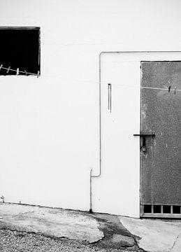 Deur op slot | grafisch zwart-wit van ellenklikt