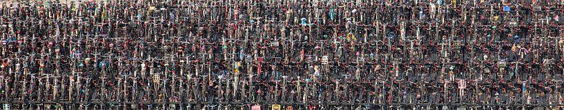 Parking à vélos à la gare centrale d'Amsterdam sur Frans Lemmens