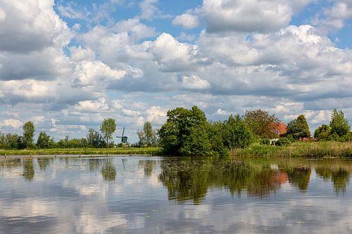 Een Hollands landschap in de zomer