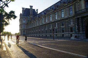 Louvre in der Abendsonne am Quai François Mitterrand von Richard Pruim