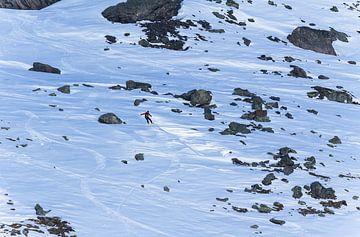 De snowboarder van Nathan Marcusse
