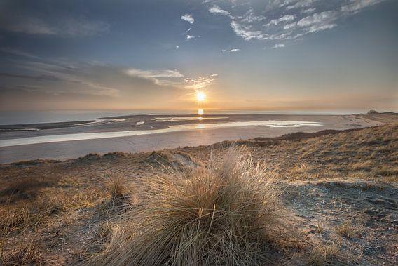 Zonsondergang, Maasvlakte (Rotterdam) van Jacqueline de Groot