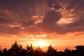 Prachtige zonsopkomst op Goeree Overflakkee van