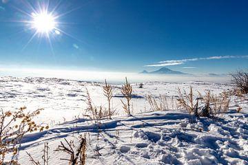 Armeens sneeuwlandschap van Gerard van den Akker