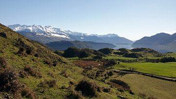 En route pour Roys Peak au lac Wanaka en Nouvelle-Zélande sur Aagje de Jong