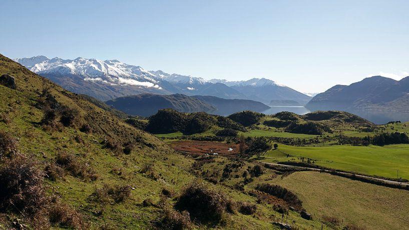 Op weg naar Roys Peak bij Lake Wanaka in Nieuw Zeeland van Aagje de Jong