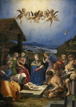 De Aanbidding van de herders, Bronzino van