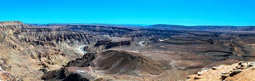 Panorama van de Fish River Canyon, Namibië
