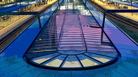 Perron station Utrecht Centraal van MY ARTIE WALL