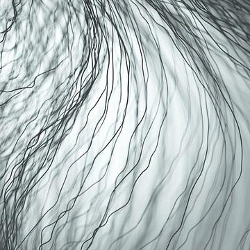 Dunkle Fasern grau