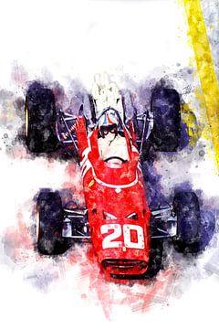 Chris Amon, Ferrari 1967 von Theodor Decker