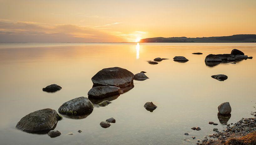 Sonnenuntergang bei Klein Zicker, Rügen, Deutschland von Adelheid Smitt
