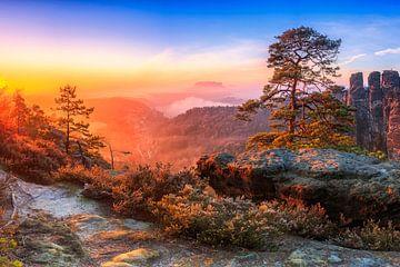 Blick in die Sächsische Schweiz III von