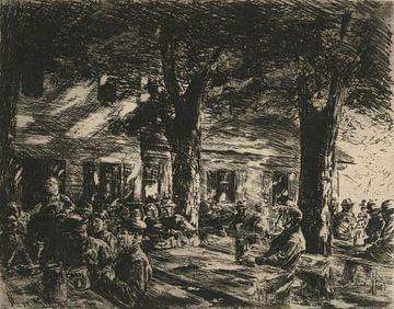 Keldertuin in Rosenheim - 1895 van Atelier Liesjes