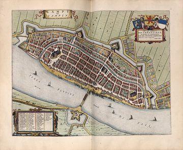 Kampen, Stadsplattegrond Joan Blaeu 1652 van Atelier Liesjes