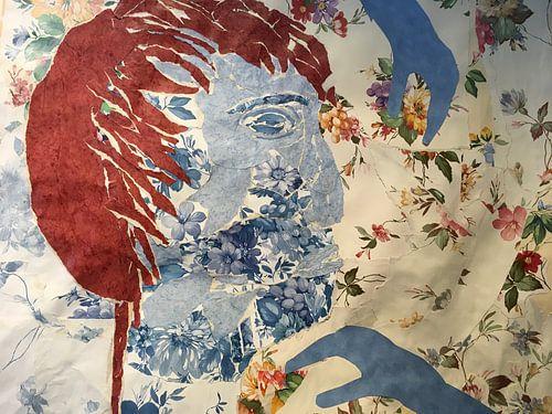 collage gezicht blauw von