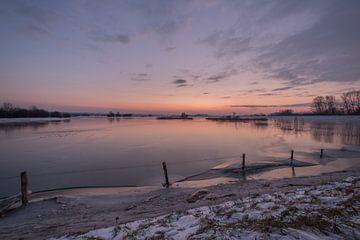 Überschwemmungsgebiete bei Lekdijk von Moetwil en van Dijk - Fotografie