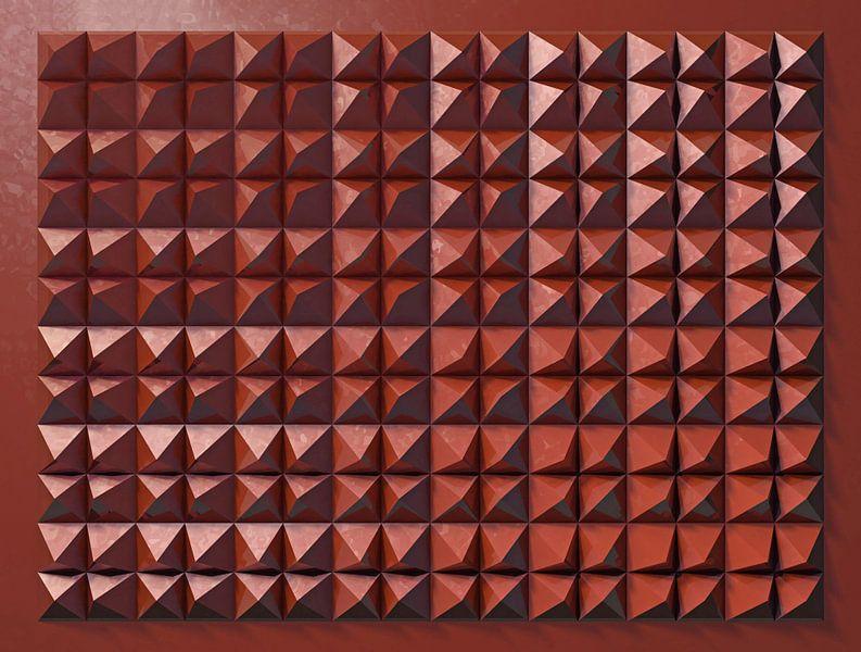 Reliëf C2 Rood Metallic van Frans Blok