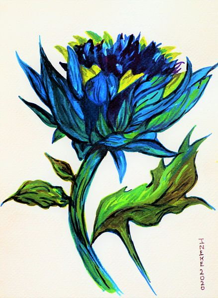 Blauwe distel (1) van Ineke de Rijk