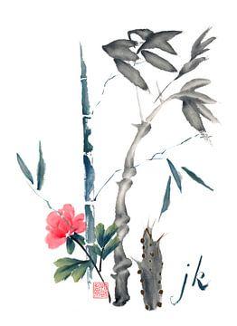 Bambus und Blüte von Jitka Krause