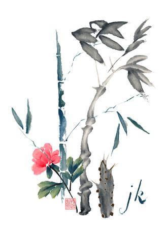 Bambus und Blüte