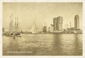 Oude ansichten: Rotterdam Nieuwe Maas van