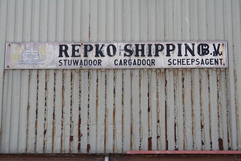 Loods in de haven van Harlingen van Jetty Boterhoek