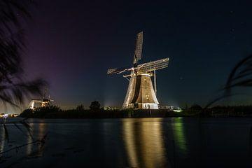 Kinderdijk bij avondlicht van Alvin Aarnoutse