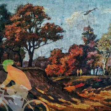 Radfahrer im Wald (Bild 2.0)