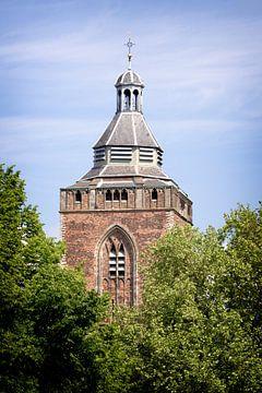 De Buurkerk in Utrecht gezien vanaf de Mariaplaats in kleur. von De Utrechtse Grachten
