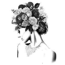 Bloemen IV Collage van Dreamy Faces