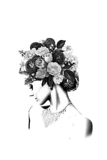 Floral IV van Dreamy Faces