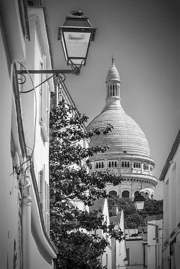 PARIJS, MONTMARTRE, de Basiliek de Sacré-Cœur van Melanie Viola