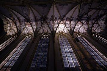 L'église de Walburgish la nuit sur Arnold van Rooij