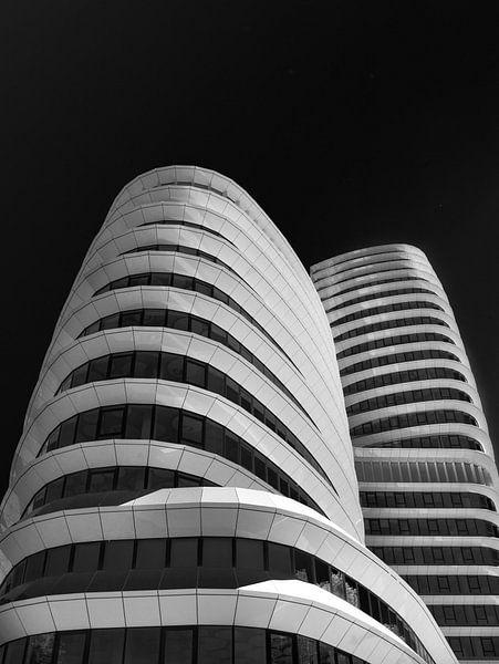 'Het Cruiseschip'DUO-Belastingdienst  - Zwart/Wit 1 van Iconisch Groningen