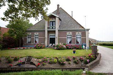 Twisk, Westfriesland: stenen boerderij van Kees van Dun