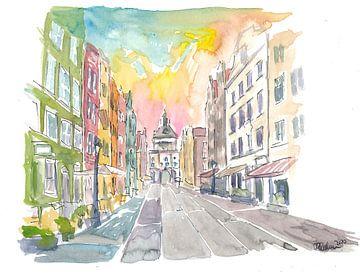 Lange Straße mit Goldenem Tor in Danzig Polen von Markus Bleichner