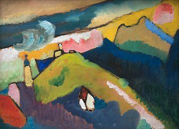 Murnau am Staffelsee berglandschaft mit Kirche, Wassily Kandinsky