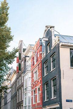Kleurrijke grachtenpanden van Amsterdam van Manon Galama