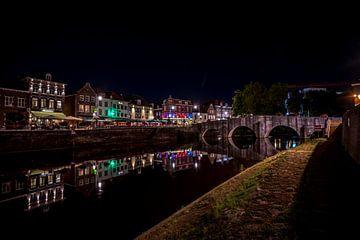 Roermond by night van Maurice Meerten