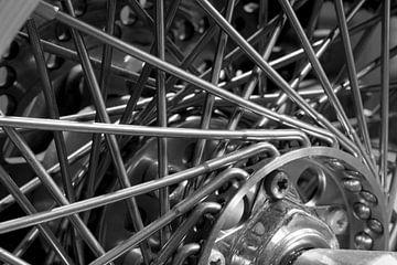 Detail wiel Harley Davidson von Agnes Schuiterd