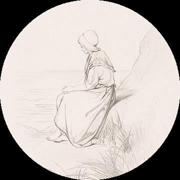 Meisje in de duinen van Eigenwijze Fotografie