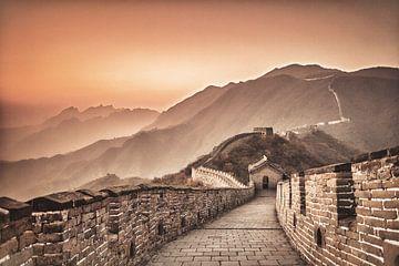 Chinese Muur bij Mutianyu, China van Frans Lemmens
