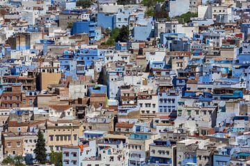 Nahaufnahme Chefchaouen, Blue City of Marocco, Afrika von Tjeerd Kruse