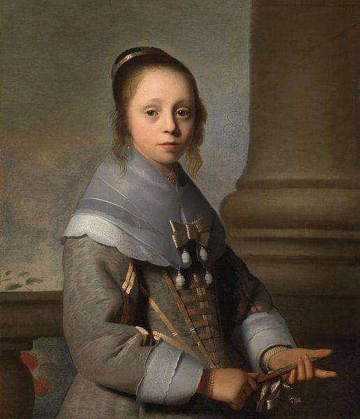 Porträt eines Mädchens, Isaack Luttichuys von Meesterlijcke Meesters