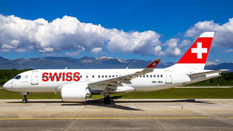Swiss Airbus 220 van Dennis Dieleman
