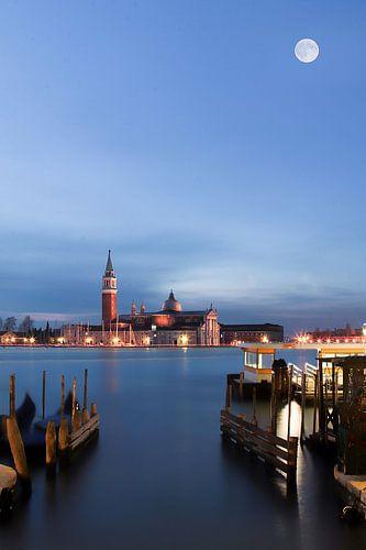 Venetië onder de volle maan sur